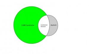 图 1. CARB综合症与自闭症的关联示意图。