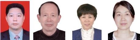 从左至右: 陈运中,卢金清,张秀桥,胡慧